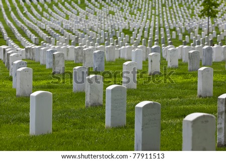 Arlington National Cemetery in Arlington County, Virginia, is a military cemetery in the United States of America.