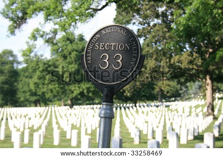 Arlington National Cemetery in Arlington Virginia. - stock photo