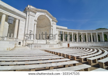 Arlington National Cemetery - Memorial Amphitheater at Tomb of the Unknowns - stock photo