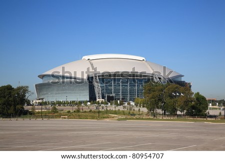 ARLINGTON, TEXAS - SEPTEMBER 28: Dallas Cowboy Field, home of the NFL Cowboys, on September 28, 2010 in Arlington, Texas. Opened in 2009, it seats 80,000 football fans and cost $1.3 billion.