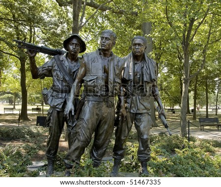 Vietnam War Memorial Statue Clip Art