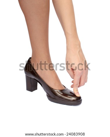 arm and brown heel