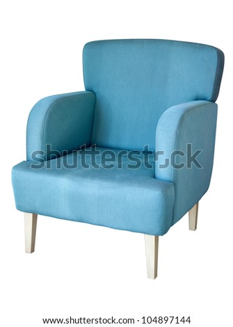 Arm chair isolated on white