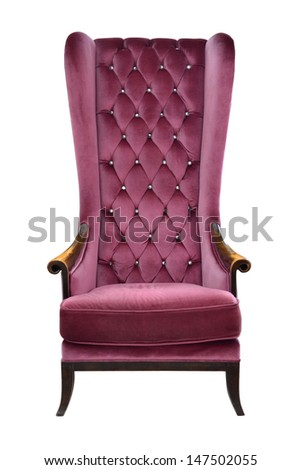 Arm-chair Isolated on white - stock photo