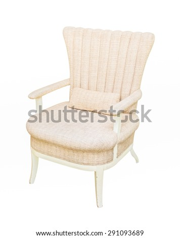 Arm-chair Isolated on white