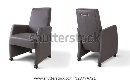 Arm chair with wheels - stock photo