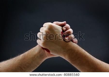 Arm wrestling - stock photo