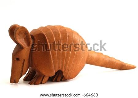 Armadillo Carving - stock photo