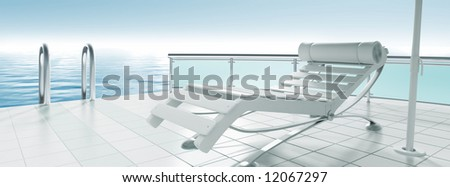 armchair - stock photo