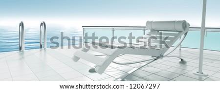 armchair - stock photo