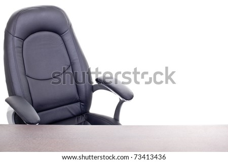 Armchair And Table, Isolated On White And Much Space For Own Text - stock photo