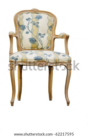 armchair isolated on white - stock photo