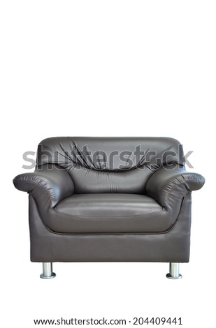 armchair isolated on white background with clipping path. - stock photo