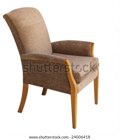 Armchair isolated with clipping path