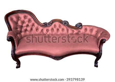 armchair on white with clipping path