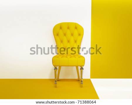 Armchair or chair in abstraction interior - stock photo