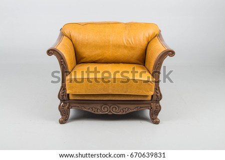 Armchairs leather antique