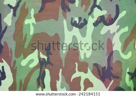armed force camouflage fabric texture background - stock photo