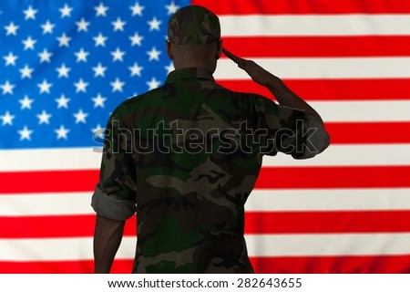 Armed Forces, Military, Saluting. - stock photo