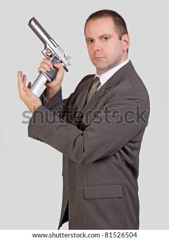 armed man - stock photo