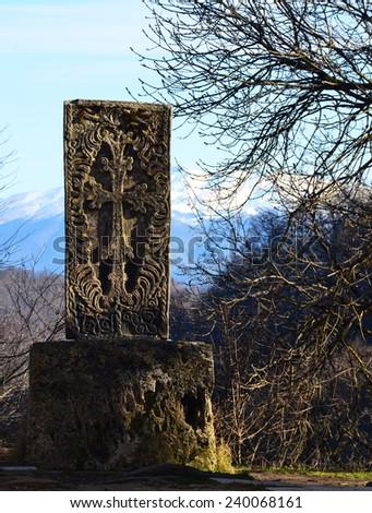 Armenian Cross stone - stock photo