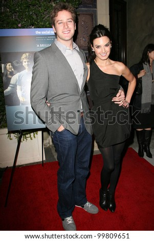 Armie Hammer and wife Elizabeth  at  'The Social Network' Blu-Ray and DVD Launch, Spago, Beverly Hills, CA. 01-06-11