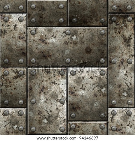 Armor seamless texture background. See more seamlessly backgrounds in my portfolio. - stock photo