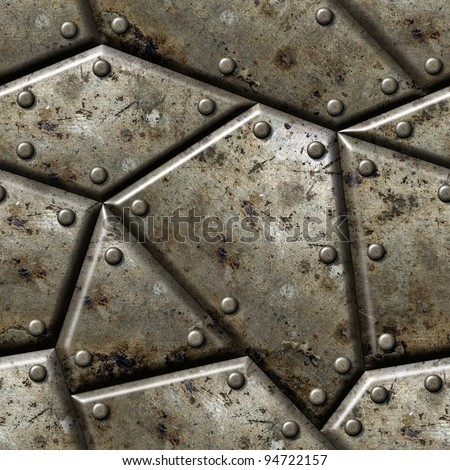 Armor seamless texture background  - texture for continuous replicate.