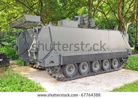Armored Army Personnel  Vehicle With Chain Track