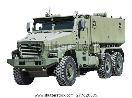 Armored Car enhanced security for the transportation of personnel. Russian military equipment