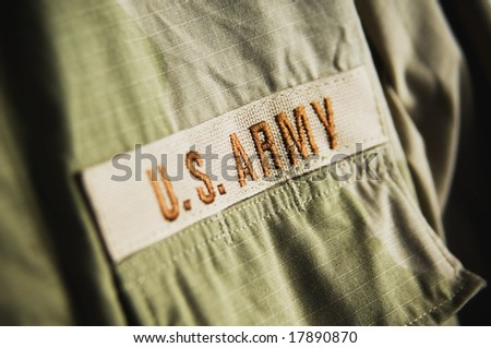 Army clothing - stock photo