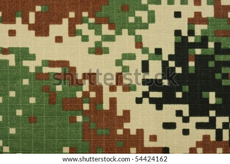 army digital military camuoflage fabric, background digital style pattern, new fabric - stock photo