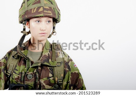 Army Girl - stock photo