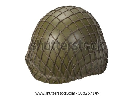 army helmet isolated on white - stock photo