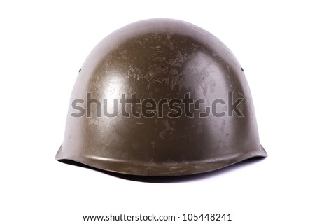 army helmet isolated on white background