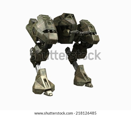 Army mech - stock photo