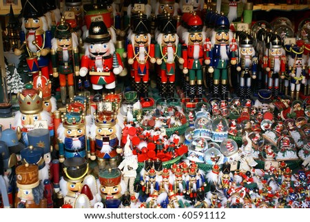Army of Nutcrackers - stock photo