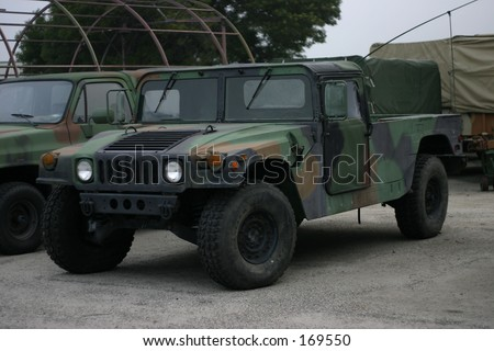 army truck - stock photo