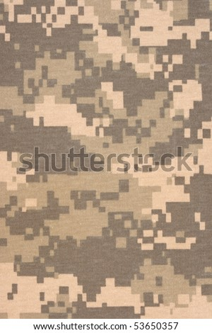army universal military camuoflage fabric, background digital style pattern, new fabric - stock photo