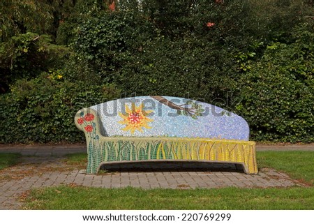 Arnhem, Netherlands - September 28, 2014: Social Sofa in Arnhem