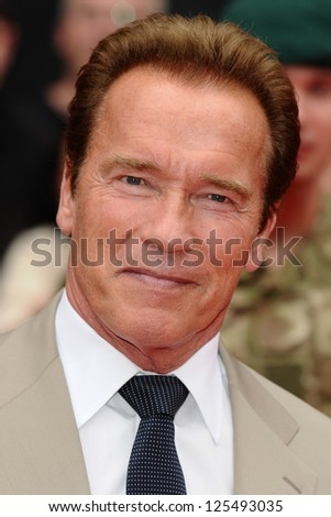 Arnold Schwarzenegger arriving for the UK Premiere of The Expendables 2 at the Empire Cinema in, Leicester Square, London. 13/08/2012 Picture by: Steve Vas - stock photo