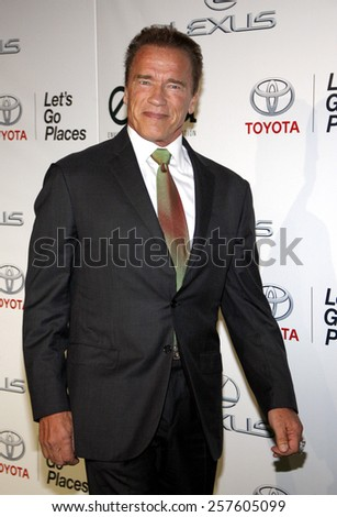 Arnold Schwarzenegger at the 2014 Environmental Media Awards held at the Warner Bros. Studios Lot in Los Angeles on October 18, 2014 in Los Angeles, California.  - stock photo