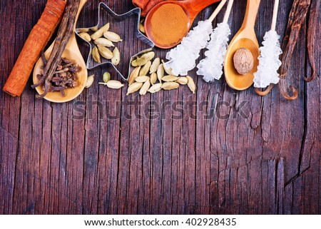 aroma spice for baking and mulled wine - stock photo