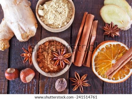 aroma spices - stock photo