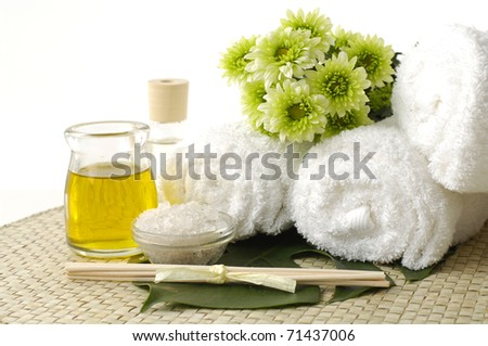 aromatherapy and spa concept - stock photo