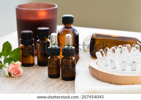 Aromatherapy essential oil for massage  - stock photo