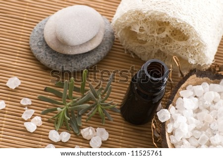 aromatherapy items. spa