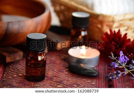 aromatherapy treatment - stock photo