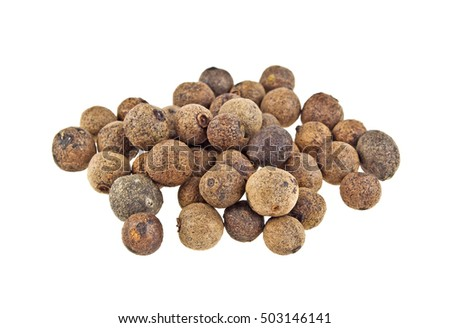 Aromatic allspice isolated on white background