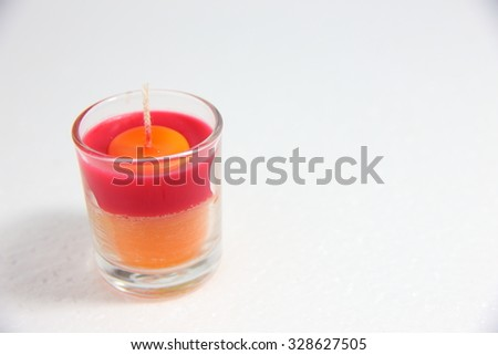 Aromatic Candle on the white background - stock photo